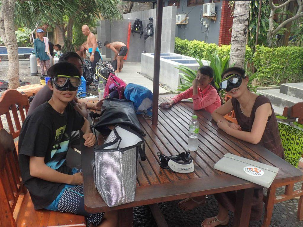 バリ島家族で体験ダイビング