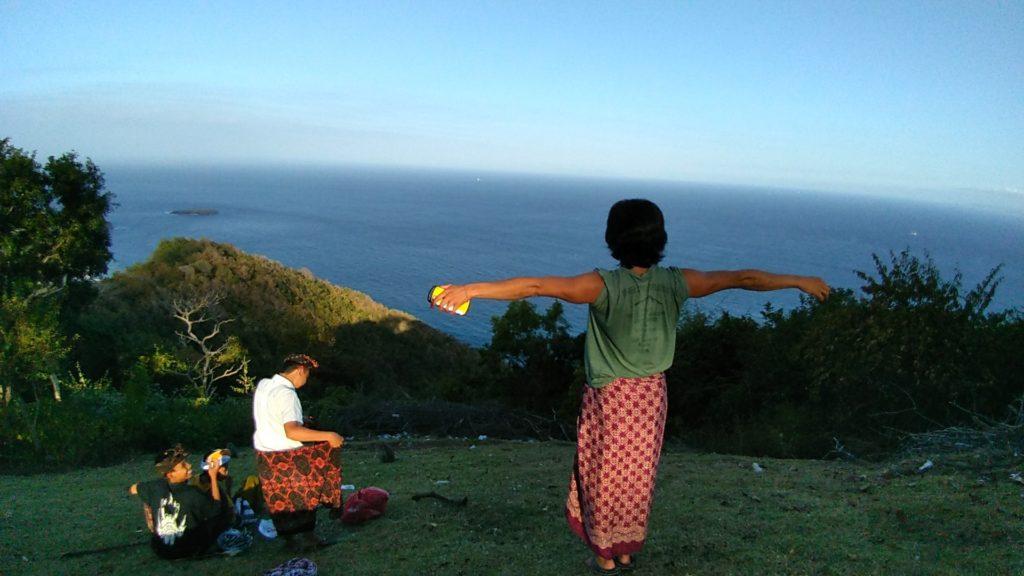 グマン寺院からの海一望