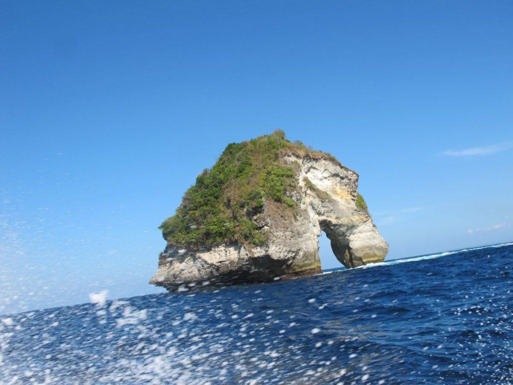 マンタポイント近くの象の岩