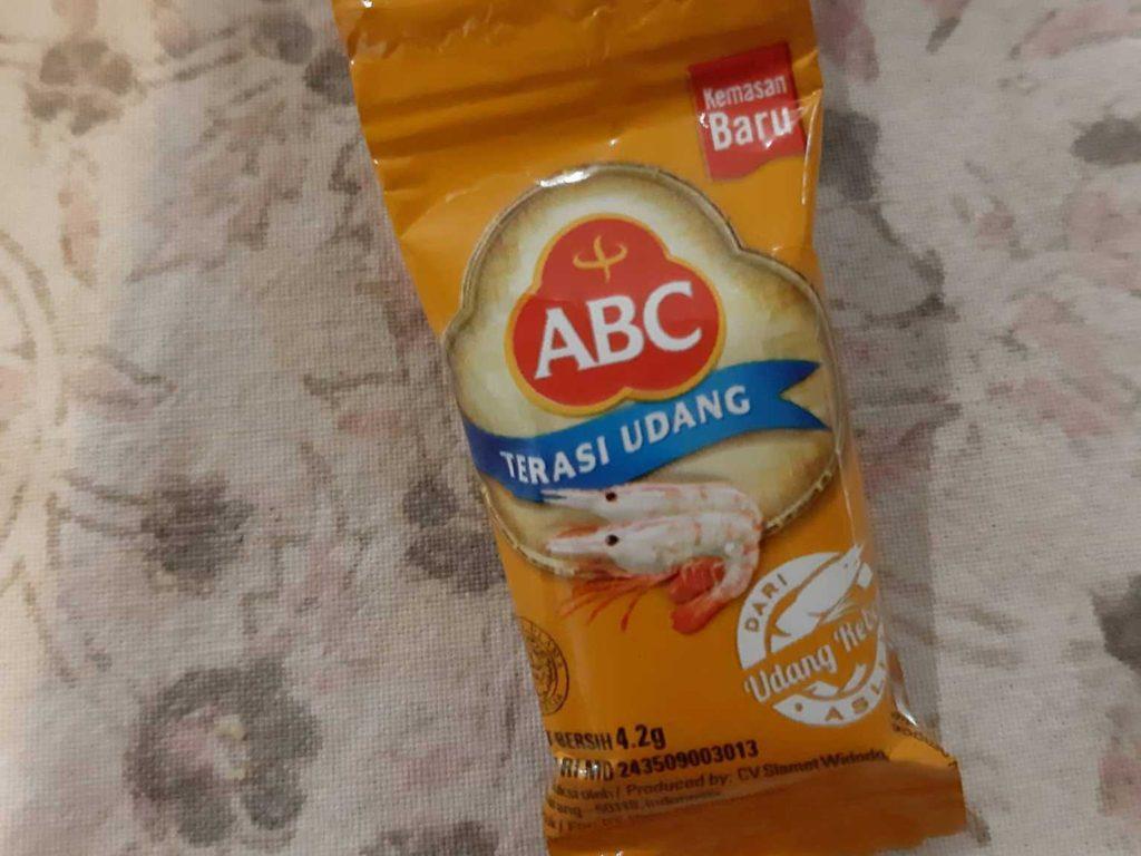 サンバルマタの材料ABC社のトラシ小袋タイプ