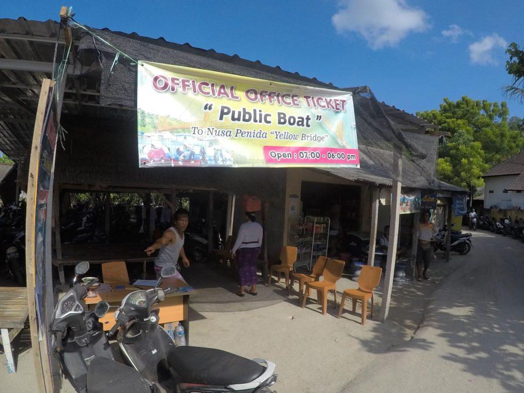 レンボンガン島~ペニダ島間のボートチケット売り場
