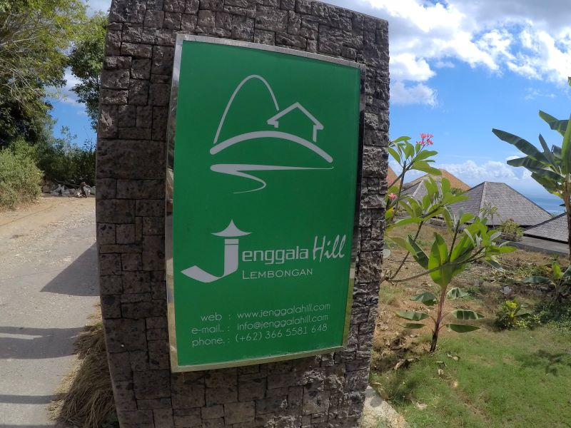 ジェンガラヒル入り口の看板