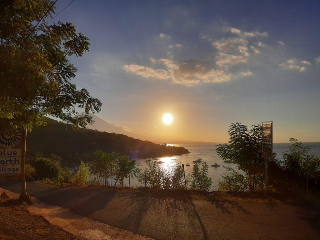バリ島アメッド 夕日